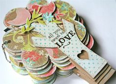 All You Need Is Love mini album - Scrapbook.com - #scrapbooking #minialbums #cratepaper