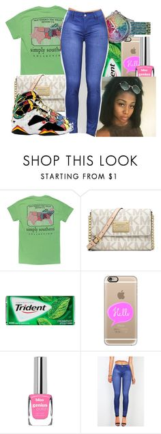 """""""Untitled #1081"""" by chynaloggins ❤ liked on Polyvore featuring MICHAEL Michael Kors and Casetify"""
