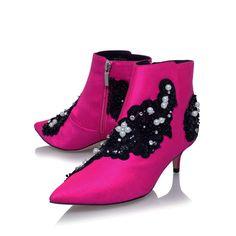 Rokka Pink Mid Heel Ankle Boots By KG Kurt Geiger   Kurt Geiger