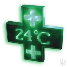 Enseigne led croix de pharmacie Touch, Green, Pharmacy, Crosses