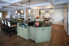 Marvelous-paula-deen-cookware-in-Kitchen-Beach-Style-with-Jenkins-Brick-next-to-Ventahood-alongside-Two-Level-Island-andBrick-Backsplash-Kitchen-.jpg (990×660)