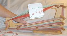 How to warp an inkle loom for TABLET WEAVING!!!!!!!!! Warping Your Mini CARD TABLET Loom