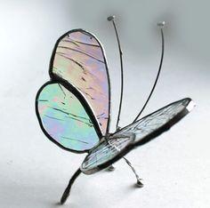 Vidrieras Sentado Butterfly - iridiscencia Claro - TabletopWindow | LA-vidrio - Vidrio de Artfire