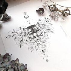 Mini Tattoos, Cute Tattoos, Body Art Tattoos, Small Tattoos, Tattoo Motive, Sternum Tattoo, Diy Tattoo, Lace Tattoo Design, Tattoo Design Drawings