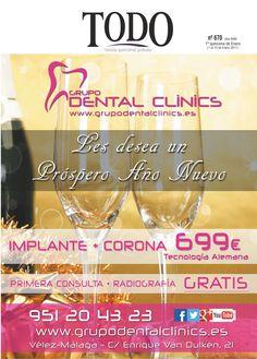 La primera portada del año en Revista Todo (1ª quincena de Enero). Grupo Dental Clinics