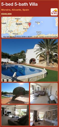 5-bed 5-bath Villa in Moraira, Alicante, Spain ►€549,000 #PropertyForSaleInSpain