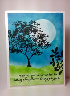 Fall trees; Inkadinkado,  by beesmom - Cards and Paper Crafts at Splitcoaststampers