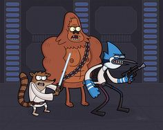 Regular Show Star Wars - regular-show Photo... You know who else thinks this is awesome?  MY MOM!!!!!!