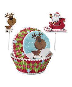 Wilton Reindeer Cupcake Liner & Topper - Set of 144 Cupcake Liners, Cupcake Wrappers, Reindeer Cupcakes, Sweet Treats, Wraps, Presents, Teddy Bear, Invitations, Seasons