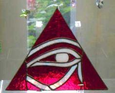 Eye of Horus on pyramid background
