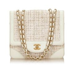 Chanel Tweed Cotton Flap Chain Shoulder Bag (€1.500) ❤ liked on Polyvore featuring bags, handbags, shoulder bags, shoulder bag purse, chain shoulder bag, chain strap shoulder bag, pink purse and chain handle handbags