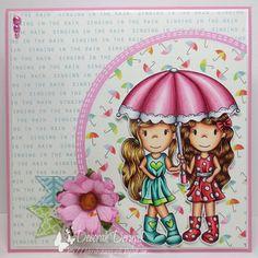 Deborah Deruyck gorgeous card. The Paper Nest: Friendship Umbrella