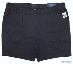 Croft & Barrow Side Elastic Classic Fit Cargo Shorts Mens B&T 48 or 50 Dark Gray #CroftBarrow #Cargo