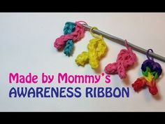Make Your Own Awareness Ribbon Charm Without the Rainbow Loom - http://rainbowloomsale.com/make-your-own-awareness-ribbon-charm-without-the-rainbow-loom/