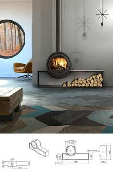 The Odin wood burning stove. It refreshes the traditional look of a wood burner,. - The Odin wood burning stove. It refreshes the traditional look of a wood burner, making it the perf - Log Burner Living Room, Log Burner Fireplace, Fireplace Hearth, Wood Burner, Fireplace Design, Fireplace Ideas, Fireplace Showroom, Fireplace Remodel, Contemporary Interior Design
