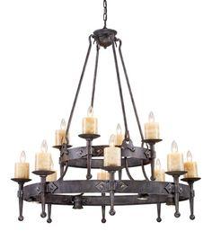 ELK Lighting Lighting 14006-8+4+4 Cambridge 8+4+Four Light Chandelier In Moonlit Rust