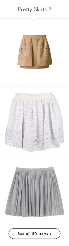 """""""Pretty Skirts ♥"""" by allweknowisfalling ❤ liked on Polyvore featuring skirts, bottoms, beige skirt, white, white knee length skirt, fringe skirts, summer skirts, elastic waist skirt, white summer skirts and saias"""
