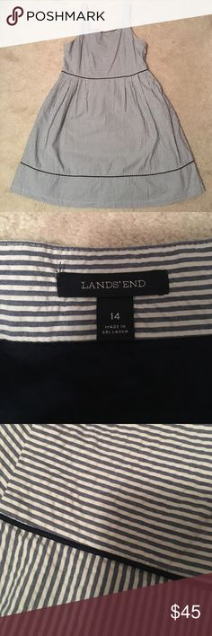 Striped Dress from Lands End Size 14 Striped dress from Lands End. Worn twice. Smoke free and pet free home. Great condition!! Lands' End Dresses