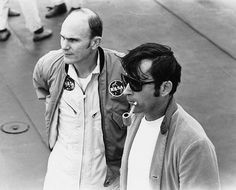 A pic of the Don Draper Astronaut — Apollo 16's John Young and his surprisingly charming corncob pipe.