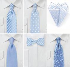 Wedding Ties in Baby Blue