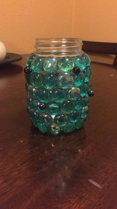 My latest blue Mason Jar Prism! Finely crafted by yours truly, Jessie Moseley.