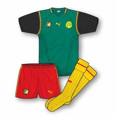 Cameroon away kit for the 2002 World Cup Finals.