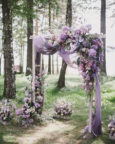 wedding ceremony decorations spring lilac flowers and cloth decorate altar art_p. - Winterhochzeit - The Best Wedding You Deserve Deco Violet, Rustic Table Runners, Wedding Ceremony Decorations, Ceremony Backdrop, Wedding Arches, Lavender Wedding Decorations, Lavender Wedding Theme, Wedding Reception, Backdrop Wedding