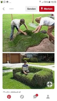 Bank from the meadow or vice versa? - # otherwise # from # bank . – … – Garten Bank from the meadow or vice versa? Backyard Garden Design, Diy Garden, Dream Garden, Backyard Landscaping, Home And Garden, Backyard Ideas, Landscaping Ideas, Outdoor Projects, Garden Projects