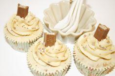 Cupcakes de Kit Kat con Buttercream de Caramelo