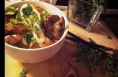 Shitake Mushroom Tonkinoise Soup Stuffed Mushrooms, Good Food, Soup, Meat, Chicken, Food Porn, Stuff Mushrooms, Soups, Healthy Meals