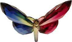 Butterfly Suncatcher Blue/Red Butterfly Ornaments, Butterfly Gifts, Red Christmas Ornaments, Buy Crystals, Collectible Figurines, Sun Catcher, Beautiful Eyes, Artist, Blue