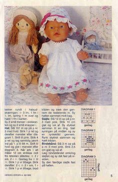 Knitting Dolls Clothes, Crochet Doll Clothes, Knitted Dolls, Barbie Clothes Patterns, Doll Patterns, Reborn Dolls, Baby Dolls, Baby Born Clothes, Baby Alive