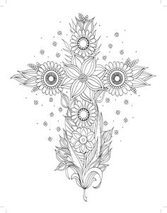 Rise and Shine: Inspirational Adult Coloring Book (Majestic Expressions) Cross Coloring Page, Quote Coloring Pages, Printable Adult Coloring Pages, Flower Coloring Pages, Mandala Coloring Pages, Free Coloring Pages, Coloring Books, To Color, Religion