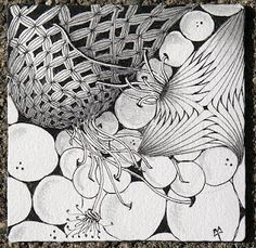 Bales, Betweed & Pokeroot with a hint of Hollibaugh! by Zentangle founder Maria Thomas