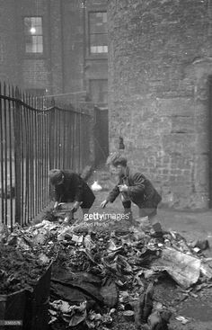 Glaswegian children playing on a rubble heap in the Gorbals The Gorbals tenements were built...