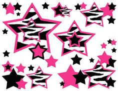 HOT PINK ZEBRA STARS PURPLE TURQUOISE BROWN TEEN WALL ART BORDER STICKERS DECALS on eBay!