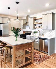 48 Cool Modern Farmhouse Kitchen Backsplash Ideas - LuvlyDecor