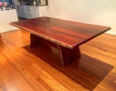 Jarrah natural edge table delivered to Scarborough Beach...