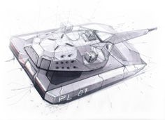 """PL-01 CONCEPT  """"STEALTH TANK"""" - DIRECT SUPPORT VEHICLE FOR OBRUM (PGZ SA) design by SOKKA"""