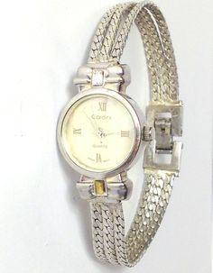 Cardini Women's Watch White Mother of Pearl Silvertone 3 Strand Bracelet 18MM #Cardini #Fashion