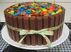 A Bucket of m&m Cake