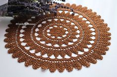 Brown doily Chocolate Doily Crochet doily by CrochetbyMariana