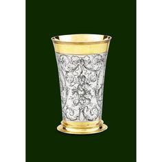 grande timbale en argent et verme Utensils, Shot Glass, Drinking, German, Auction, Sterling Silver, Tableware, Gold, Silver