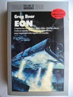 """Il romanzo """"Eon"""" (""""Eon"""") di Greg Bear è stato pubblicato per la prima volta nel 1985. È il primo romanzo del ciclo omonimo. In Italia è stato pubblicato dall'Editrice Nord nel n. 182 di """"Cosmo Argento"""", nel n. 16 dei """"Tascabili Nord"""" e nel n. 113 di """"Cosmo Narrativa"""". Immagine di copertina di Zeliko Pahec per l'edizione """"Cosmo Argento"""". Clicca per leggere una recensione di questo romanzo!"""