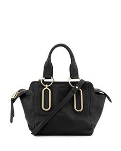 See by Chloe Paige Leather Crossbody Bag, Black