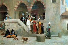 Leaving the Mosque - Jean-Leon Gerome