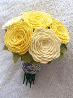 handmade wedding - felt bouquet