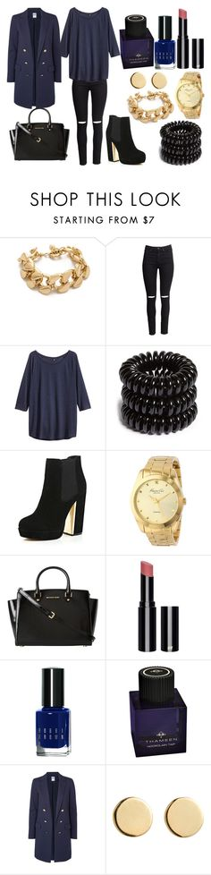 """""""Без названия #2334"""" by southerncomfort ❤ liked on Polyvore featuring Lee Angel Jewelry, H&M, Invisibobble, River Island, Kenneth Cole, MICHAEL Michael Kors, Bobbi Brown Cosmetics, Thameen, Vero Moda and Loren Stewart"""