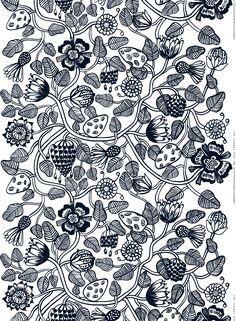 Tiara HW cotton fabric by Marimekko