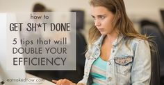 How to do a lot when you only have a little time. Great productivity tips that will double your efficiency.